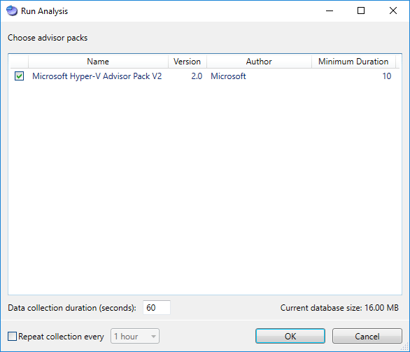 Running-Analysis-with-the-Hyper-V-Analysis-Pack Monitoring Hyper-V Performance with Server Performance Advisor
