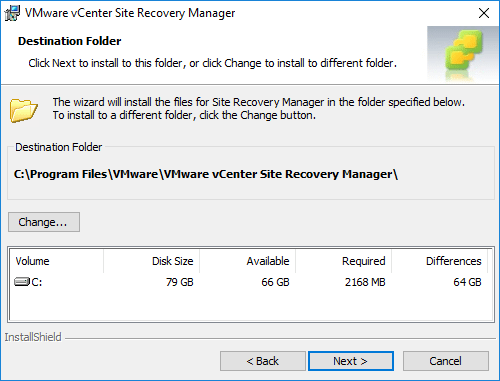 Site-Recovery-Manager-destination-folder-storage-configuration Installing VMware vCenter Site Recovery Manager SRM 8.1