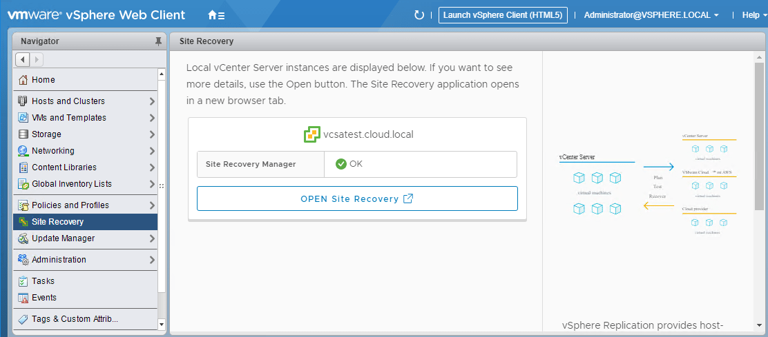 Site-Recovery-Manager-is-registered-in-VMware-vCenter-Server Installing VMware vCenter Site Recovery Manager SRM 8.1