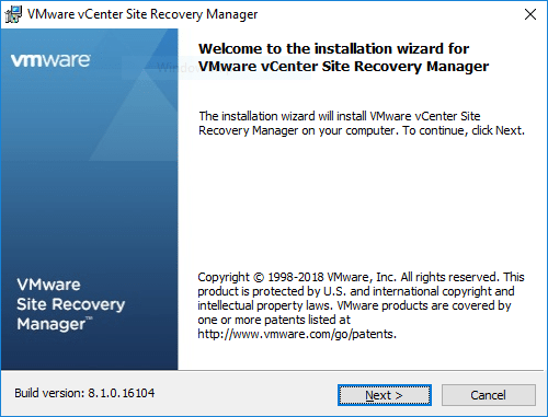 VMware-vCenter-Site-Recovery-Manager-Installation-Wizard-begins