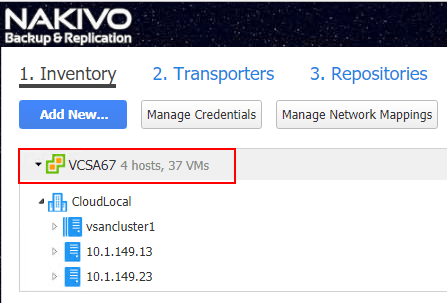 VMware-vSphere-6.7-vCenter-connection-successfully-added-to-NAKIVO-v7.5 NAKIVO Backup and Replication v7.5 Released with vSphere 6.7 and Cross-Platform Support
