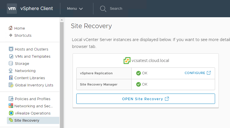 VMware-vSphere-Replication-is-now-found-under-Site-Recovery Installing and Configuring VMware vSphere Replication 8.1 in vSphere 6.7