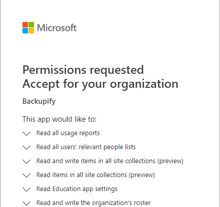Accepting-access-permissions-for-Backupify-connection-to-Office-365 Choosing the Best Office 365 Backup Solution