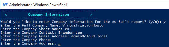 As-Built-Report-Company-Information-screen Automate VMware vSphere Documentation with PowerShell and PowerCLI