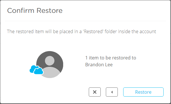 Confirming-Restore-operation-in-Spanning Choosing the Best Office 365 Backup Solution