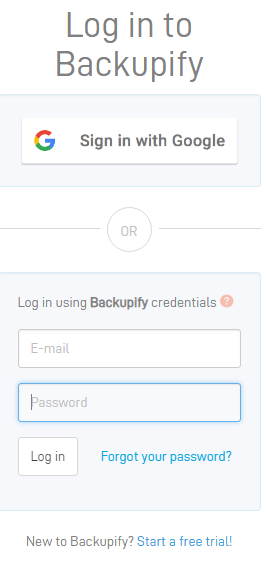 Enter-email-address-and-password-for-Backupify-service Choosing the Best Office 365 Backup Solution