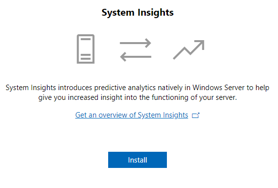 Installing-the-System-Insights-module-in-Windows-Admin-Center-on-Windows-Server-2019 Windows Admin Center 1809 Released with Windows Server 2019 Features