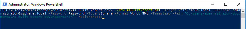 Running-the-As-Built-Report-against-VMware-vSphere-vCenter-Server Automate VMware vSphere Documentation with PowerShell and PowerCLI