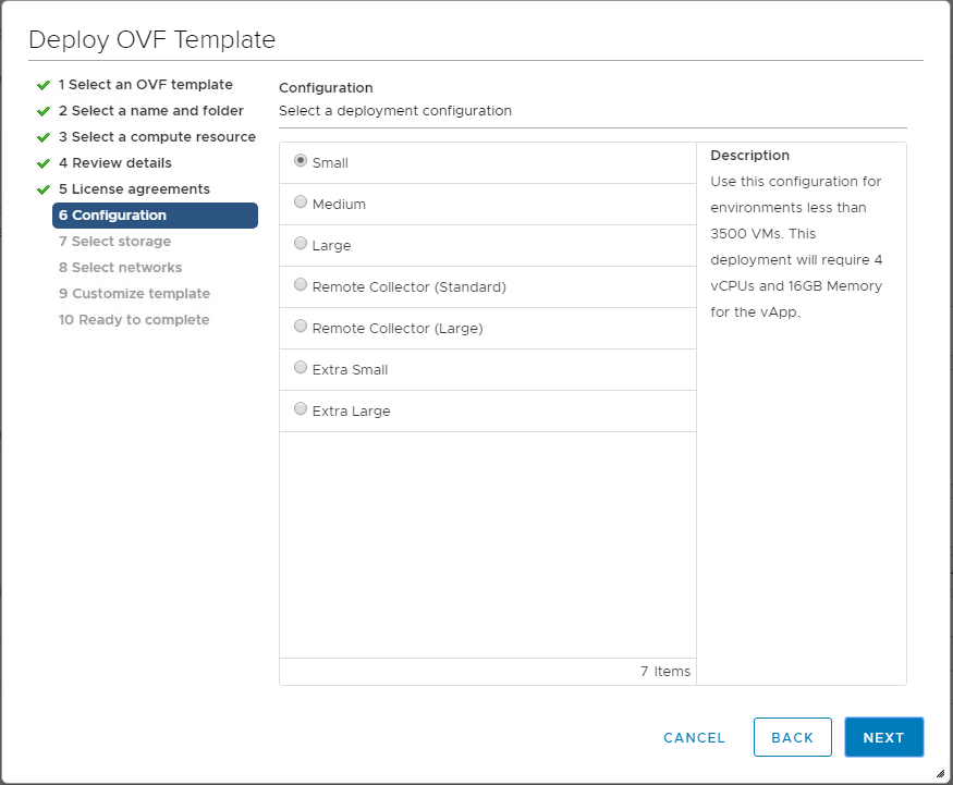 Select-the-configuration-size-for-the-vRealize-Operations-7.0-appliance VMware vRealize Operations 7.0 New Features Installation and Configuration