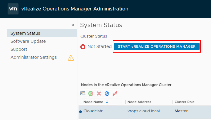 Starting-vRealize-Operations-7.0-and-bringing-it-online VMware vRealize Operations 7.0 New Features Installation and Configuration
