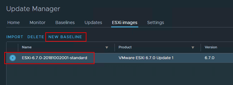 After-ESXi-6.7-Update-1-image-is-uploaded-create-a-new-Baseline-in-vSphere-Update-Manager Upgrade to VMware vSphere ESXi 6.7 Update 1 using VUM