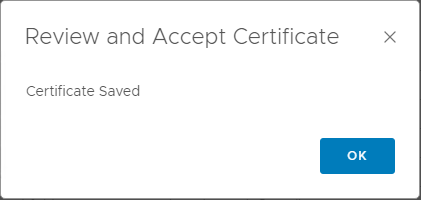 Certificate-saved-in-vRealize-Operations-Manager-7.0-for-outbound-email VMware vRealize Operations 7.0 vCenter Connection and SMTP Configuration