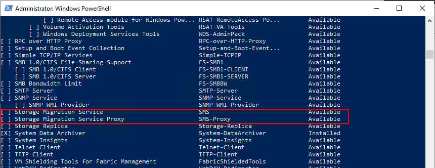 Different-view-at-the-Storage-Migration-Services-in-PowerShell Migrate from Windows Server 2003 to Windows Server 2019 with Storage Migration