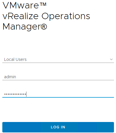 Login-to-the-vRealize-Operations-Manager-7.0-administrative-interface VMware vRealize Operations 7.0 vCenter Connection and SMTP Configuration