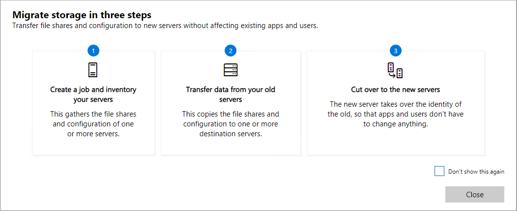 Migrate from Windows Server 2003 to Windows Server 2019 with