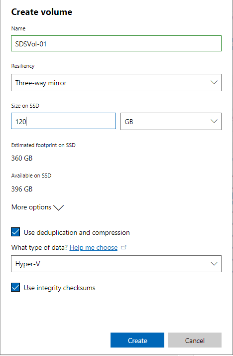 Selecting-the-volume-size-for-new-Windows-Server-2019-Storage-Spaces-Direct-volume Create Windows Server 2019 Storage Spaces Direct Volumes in Windows Admin Center