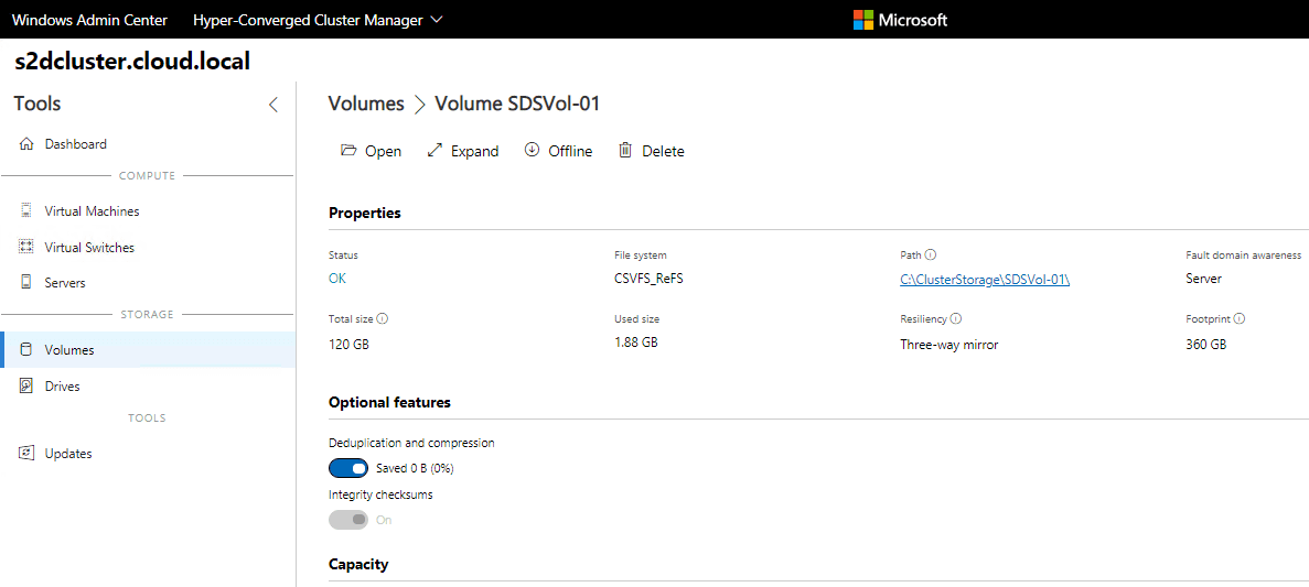 Viewing-details-of-the-new-Windows-Server-2019-Storage-Spaces-Direct-volume-in-Windows-Admin-Center Create Windows Server 2019 Storage Spaces Direct Volumes in Windows Admin Center