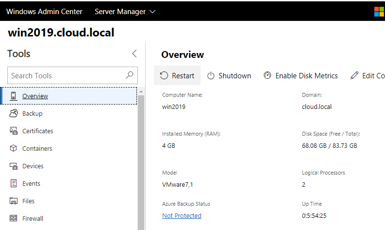 Windows-Server-2019-management-with-Windows-Admin-Center Windows Server 2019 Hyper-V New Features