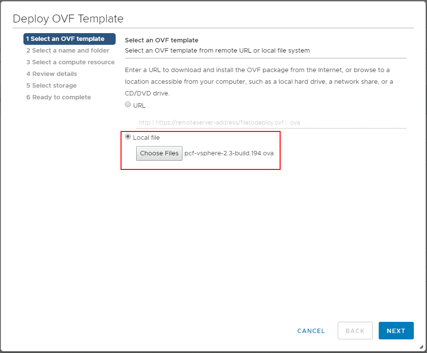 Choose-the-downloaded-PCF-vSphere-OVA-file Getting Started with VMware Pivotal Container Service PKS PCF Ops Manager Install