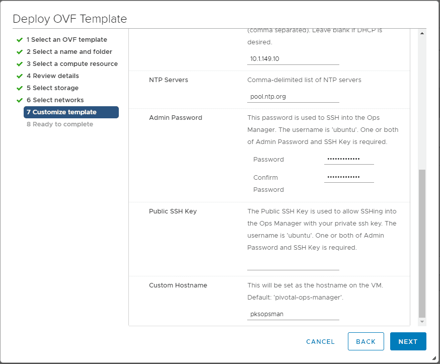 Further-customization-of-the-Pivotal-Containers-Operations-Manager-appliance Getting Started with VMware Pivotal Container Service PKS PCF Ops Manager Install