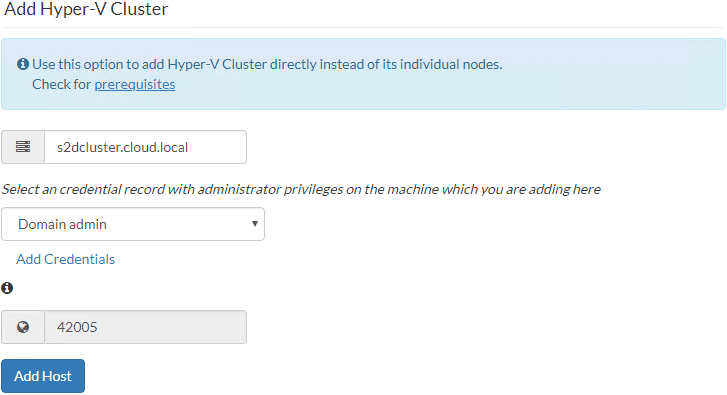 Ready-to-add-Hyper-V-cluster-after-adding-credentials Backup and Protect Hyper-V Clusters with Vembu BDR Suite v4.0