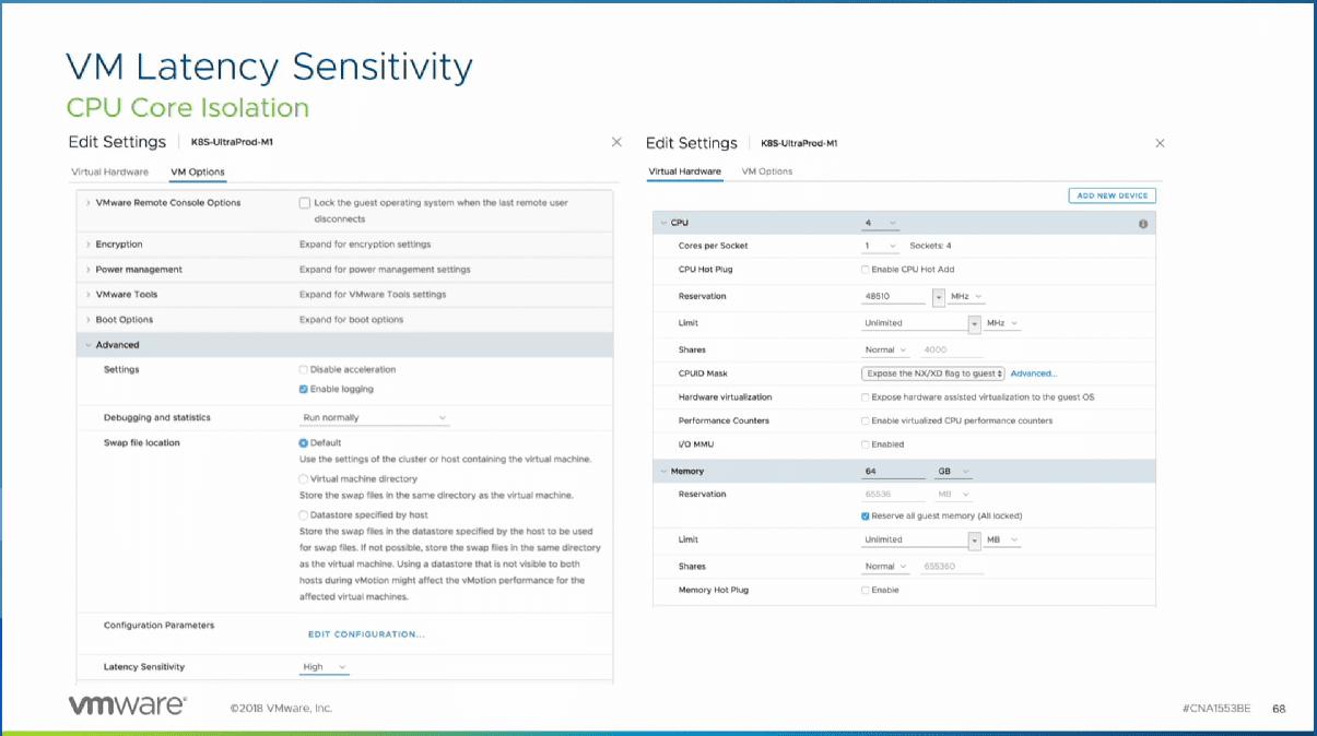 VM-latency-sensitivity-for-maximum-performance-in-vSphere Advantages of Running Kubernetes K8S on VMware vSphere