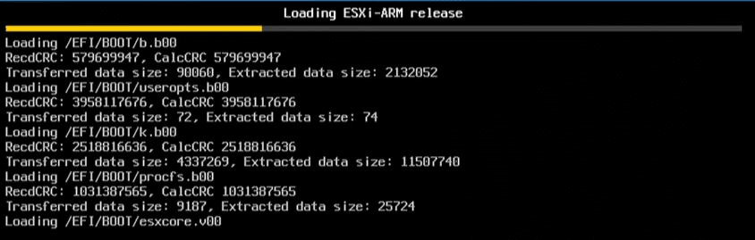 VMware-vSphere-ESXi-ARM-release-booting