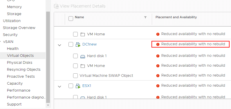 vSAN-datastore-VM-reduced-availability-virtual-objects