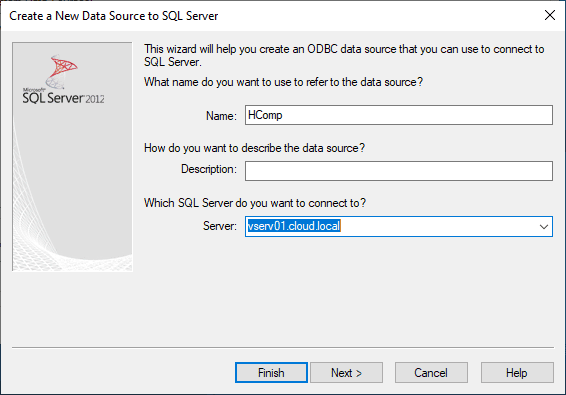 Create-a-new-datasource-for-the-Horizon-7.7-Composer-Server-database VMware Horizon 7.7 Composer Server Installation