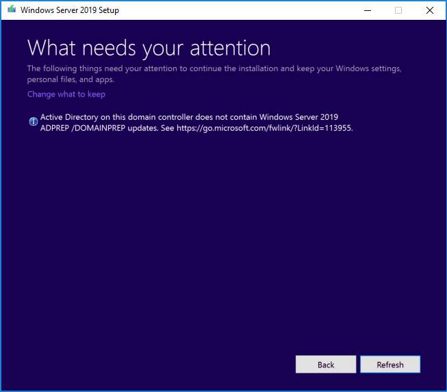 Forestprep-and-Domainprep-will-need-to-be-run-during-the-process Upgrading Windows Server 2016 Domain Controller DC to Windows Server 2019
