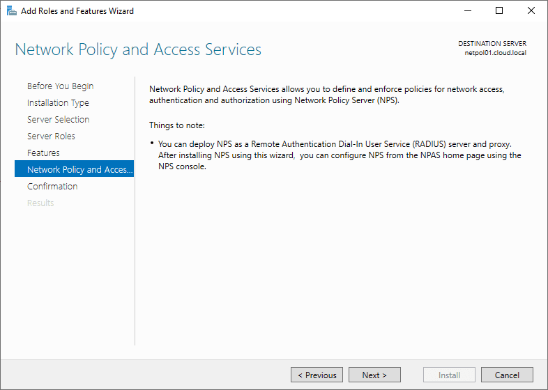 Network-Policy-Server-things-to-note-during-install Installing Configuring Troubleshooting Windows Server 2019 NPS as RADIUS
