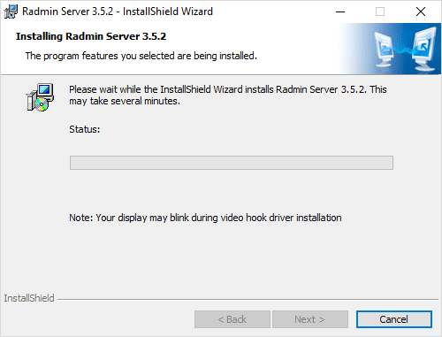 Radmin-Server-installation-begins-copying-files Radmin Windows 10 Remote Viewing Support and Console Control Utility