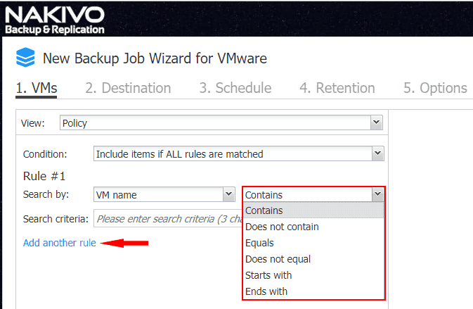 Search-by-policy-based-data-protection-logic-configuration-in-NAKIVO-Backup-Replication-8.1-GA NAKIVO Backup and Replication v8.1 Released GA with New Features