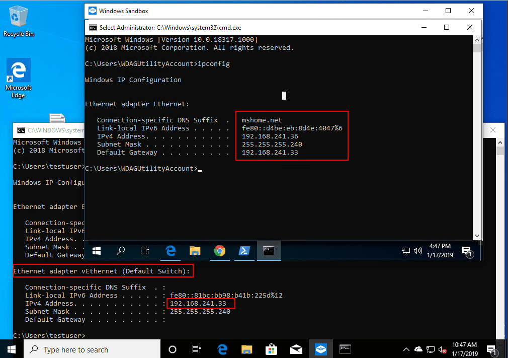 A-look-at-how-the-Windows-10-Sandbox-app-container-or-VM-networking-is-setup Installing New Windows 10 Sandbox Feature Networking Resources Browsers Security