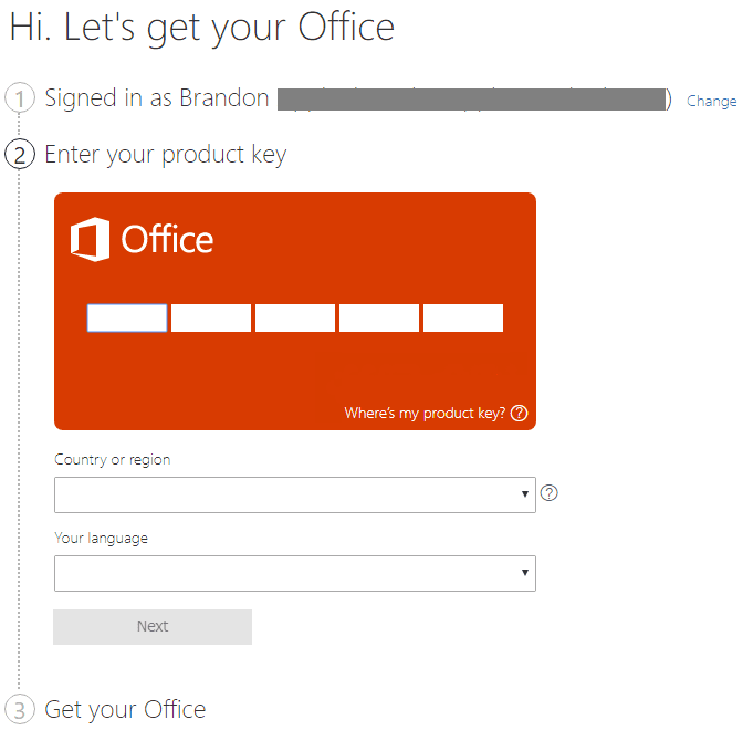 Associating-the-product-key-for-Office-365-to-the-Microsoft-account