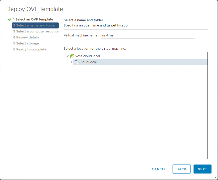 Choose-the-name-and-folder-of-the-NSX-T-unified-appliance What is VMware NSX-T Manager Unified Appliance and Installation