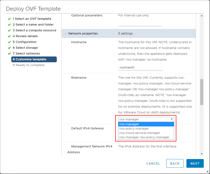 Configure-the-rolename-of-the-NSX-T-unified-appliance What is VMware NSX-T Manager Unified Appliance and Installation