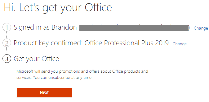 Confirming-the-installation-moving-on-to-get-the-installation-file-for-Office-365 Office 2019 vs Office 365 Differences and Installation