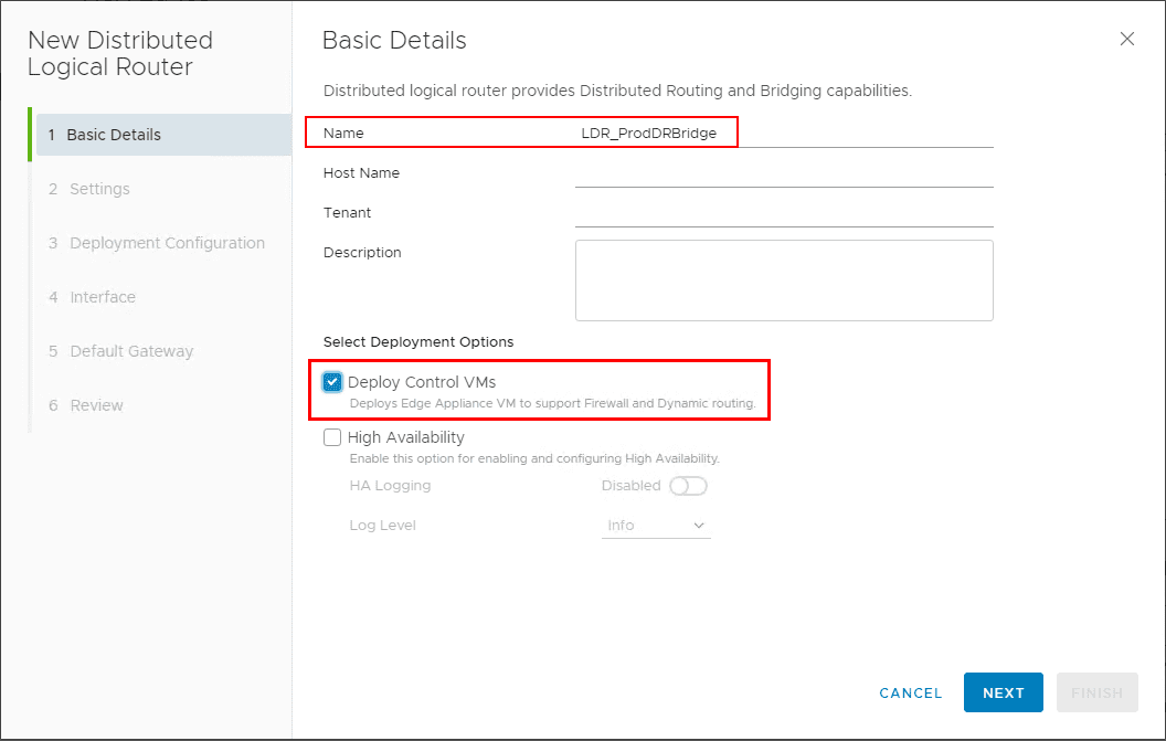 Creating-a-New-Distributed-Logical-Router-for-Layer-2-Bridge-purposes VMware NSX Layer 2 Bridge Configuration
