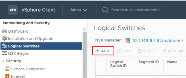 Creating-a-new-Logical-Switch-in-NSX VMware NSX Layer 2 Bridge Configuration
