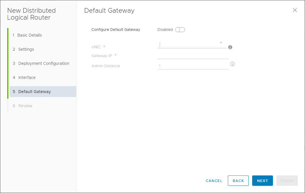 Default-Gateway-Configuration VMware NSX Layer 2 Bridge Configuration