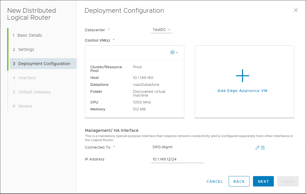 Deployment-Configuration-of-the-Edge-Appliance VMware NSX Layer 2 Bridge Configuration