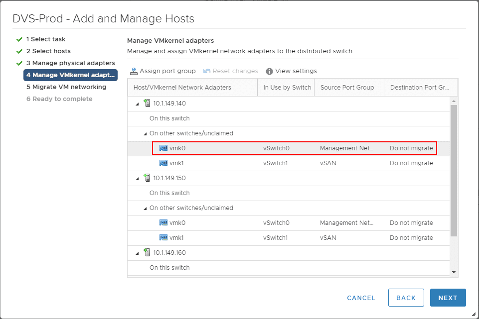 Migrate-vmkernel-adapters-as-part-of-the-assigning-of-vSphere-Distributed-Switches-to-hosts Create VMware vSphere Distributed Switch VDS for NSX Data Center