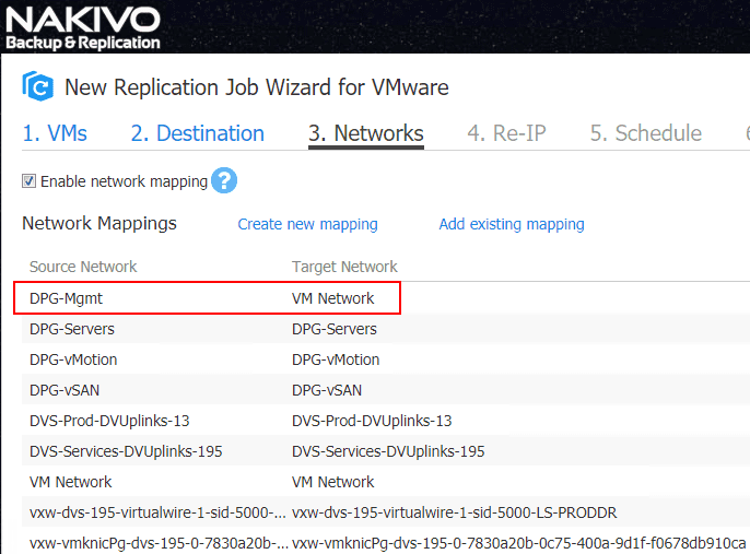 NAKIVO-Backup-Replication-network-mapping-is-in-place Automate Network Changes in DR for Replicated VMs with NAKIVO