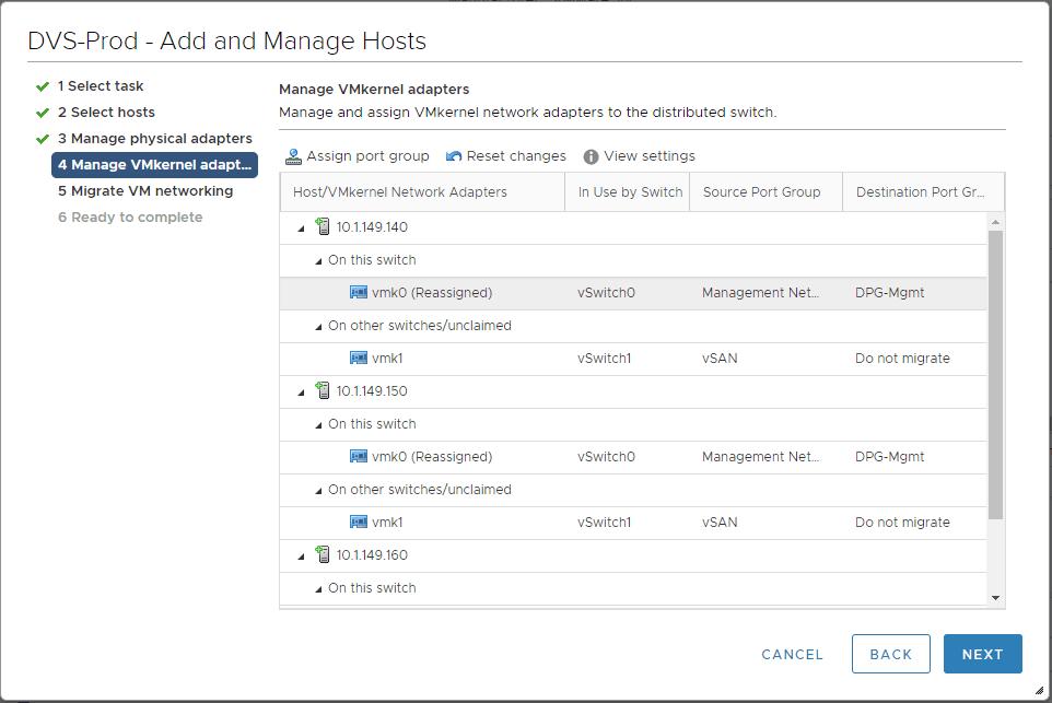 Port-group-assigned-to-VMkernel-adapter Create VMware vSphere Distributed Switch VDS for NSX Data Center