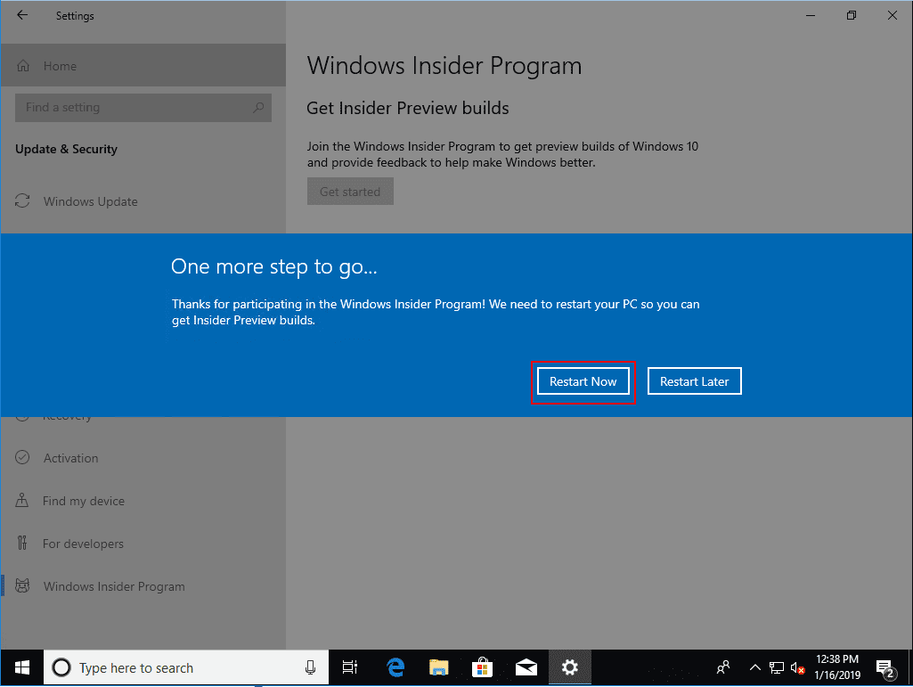 Restart-your-computer-when-prompted Installing Windows 10 Insider Preview 18317 New Features No ISO