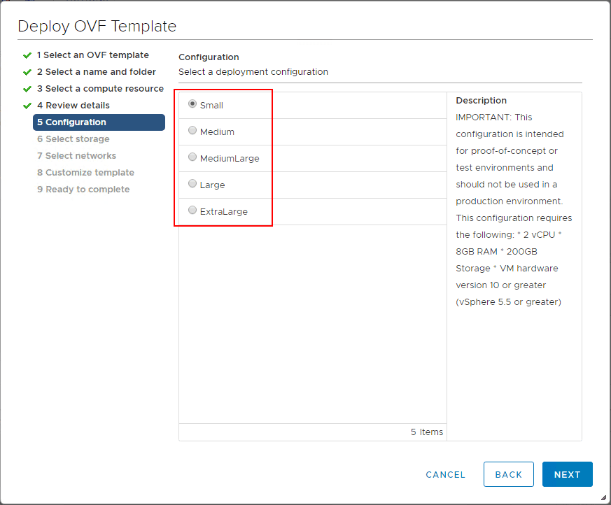 Select-the-deployment-configuration-size-of-the-NSX-T-unified-appliance