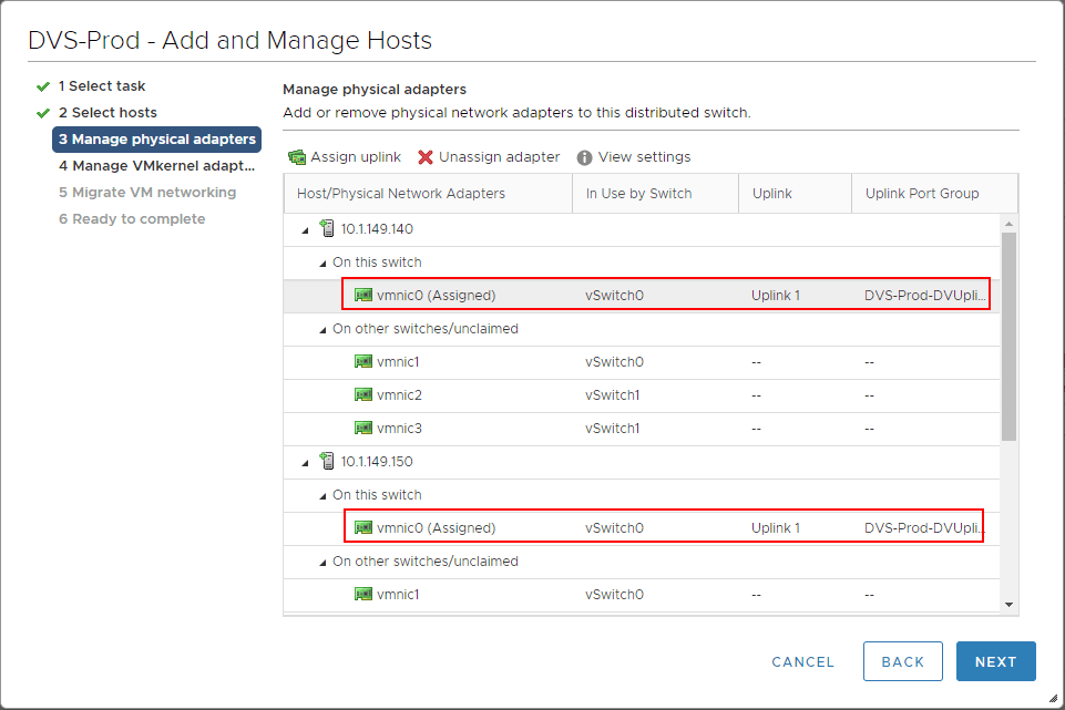 Uplink-assigned-across-all-hosts-for-the-new-vSphere-Distributed-Switch-VDS Create VMware vSphere Distributed Switch VDS for NSX Data Center