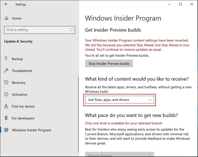 Your-program-settings-have-been-reverted-error