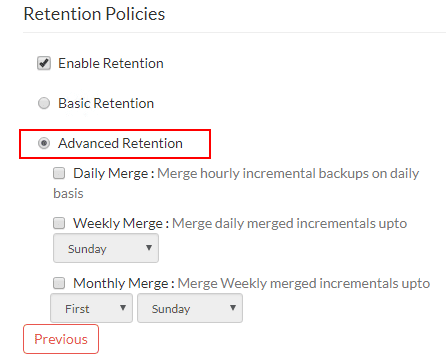 Advanced-Retention-Policy-Settings Vembu BDR Suite 4.0 Product Review